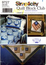 Simplicity 9727 Sewing Pattern Quilt Block Club Americana Flag & Sails on the Horizon Shirly Botsford