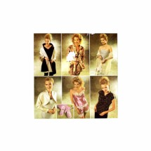 Misses Camisole Tap Pants Robe Top Shrug Scarf Wrap Slippers Simplicity 9961 Sewing Pattern Size 4 - 6 - 8 - 10 - 12