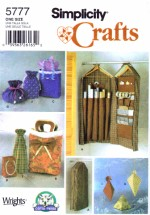 Simplicity 5777 Gift Wrap Accessories Organizer & Bags Sewing Pattern