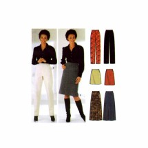 Misses Skirts in Three Lengths Slim and Straight Leg Pants Simplicity 5844 Sewing Pattern Size 6 - 8 - 10 - 12