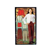 Girls Pants Knit Tops Simplicity 5869 Sewing Pattern Size 7 - 8 - 10 - 12 - 14