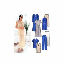 Womens Dress Top Skirt Pants Tie Belt Simplicity 7168 Sewing Pattern Size 18 - 20 - 22 - 24