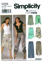 Simplicity 5256 Pants & Skirts Size 4 - 10