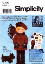 Simplicity 5295 Sewing Pattern Patty Reed Girls Jacket Pants Scarf Hat Size 5 - 6 - 7 - 8