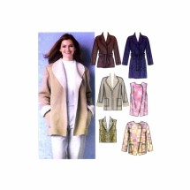 Misses Coats Jackets Vests Simplicity 5306 Sewing Pattern Size 6-8-10-12-14-16