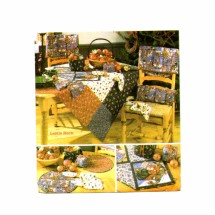Christmas Table Top Accessories Tablecloth Place Mat Napkin Gift Box Simplicity 5323 Sewing Pattern