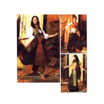 Belly Dancer Harem Pants Gypsy Costumes Simplicity 5359 Sewing Pattern Size 6 - 8 - 10 - 12