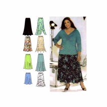 Womens Design Your Own Skirt Khaliah Ali Simplicity 4706 Sewing Pattern Size 18 - 20 - 22 - 24