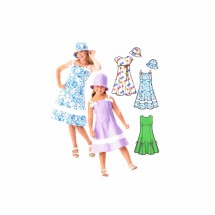Girls Dress and Hat Lizzie McGuire Simplicity 4721 Sewing Pattern Size 3 - 4 - 5 - 6