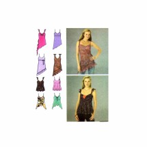 Misses Tops with Shoulder Straps Simplicity 4750 Sewing Pattern Size 12 - 14 - 16 - 18