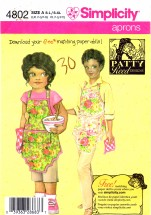 Simplicity 4802 Sewing Pattern Patty Reed Girls & Misses Apron