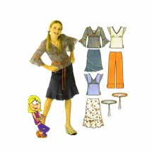 Lizzie McGuire Girls Skirt Pants Top Belt Simplicity 5225 Sewing Pattern Size 8 thru 16