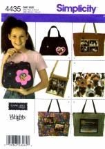 Simplicity 4435 Girls Bags Purse Handbag Sewing Pattern