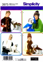 Simplicity 3975 Womens and Dog Accessories Sewing Pattern