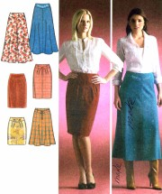 Misses Flared and Slim Skirts Simplicity 4087 Sewing Pattern Size 12 - 14 - 16 - 18 - 20