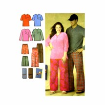 Misses Mens Sleepwear Pants Shorts Knit Top Remote Control Holder Simplicity 3646 Sewing Pattern Size XS - S - M