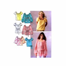 Misses Pullover Tops Simplicity 3887 Sewing Pattern Size 8 - 10 - 12 - 14 - 16