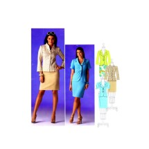 Simplicity 2452 Sewing Pattern Jacket Skirt Suit Threads Collection Size 6 - 14