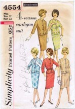 Simplicity 4554 Cardigan Suit Size 12 - Bust 32