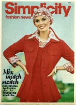 Simplicity Fashion News April 1976 Pamphlet