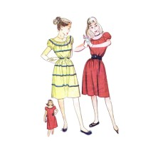 1940s Teens Chemise Dress Simplicity 1594 Vintage Sewing Pattern Size 12 Bust 30