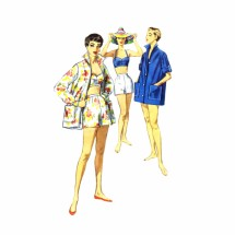 1950s Bra Top Shorts Coat Playsuit Simplicity 1659 Vintage Sewing Pattern Size 12 Bust 30