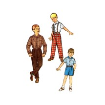 1950s Boys Shirt Pants Shorts Simplicity 1822 Vintage Sewing Pattern Size 2 Chest 21
