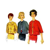 1960s Misses Lined Jacket Simplicity 3582 Vintage Sewing Pattern Size 10 Bust 31
