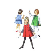 1960s Little Girls Jumper and Blouse Simplicity 5133 Vintage Sewing Pattern Size 4 Breast 23