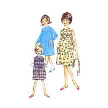 1960s Girls Dress or Jumper Simplicity 5417 Vintage Sewing Pattern Size 6 Breast 24