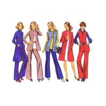 1970s Misses Unlined Coat or Jacket Tunic Pants Simplicity 5490 Vintage Sewing Pattern Size 12 Bust 34