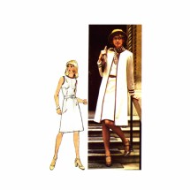 1970s Dress and Jacket Simplicity 6200 Vintage Sewing Pattern Size 12 Bust 34