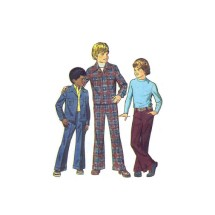 1970s Boys Unlined Jacket and Pants Simplicity 6539 Vintage Sewing Pattern Size 4