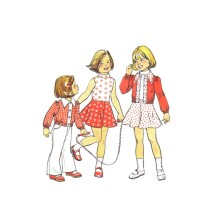 1970s Girls Flared Dress and Bomber Jacket Simplicity 6820 Vintage Sewing Pattern Size 6 Breast 25