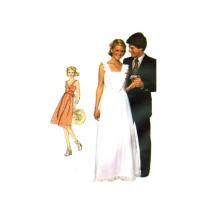 1970s Misses Sundress Short or Evening Length Simplicity 7869 Vintage Sewing Pattern Size 10 Bust 32 1/2