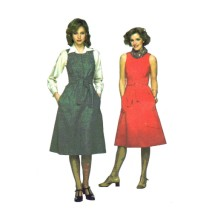 1970s Misses Dress or Jumper Simplicity 8192 Vintage Sewing Pattern Size 12 Bust 34