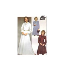 1970s Misses Knit Skirt Top Dress Scarf Simplicity 8263 Vintage Sewing Pattern Size 12 Bust 34