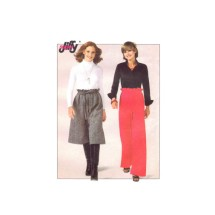 1970s Misses High Waist Drawstring Wide Leg Culottes and Pants Simplicity 8266 Vintage Sewing Pattern Size 6 - 8 Waist 23 - 24