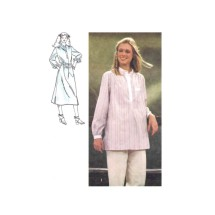 1970s Misses Pullover Dress or Shirt Simplicity 8875 Vintage Sewing Pattern Size 6 - 8 Breast 30 1/2 - 31 1/2