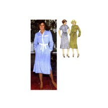 1970s Misses Shirtdress and Tie Belt Simplicity 9017 Vintage Sewing Pattern Size 16 Bust 38