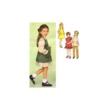 Simplicity 9211 Girls Dress Sundress Jumper Pants Vintage Sewing Pattern Size 4
