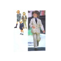 1970s Boys Pants Shorts Jacket Suit Simplicity 9349 Vintage Sewing Pattern Size 4 Chest 23