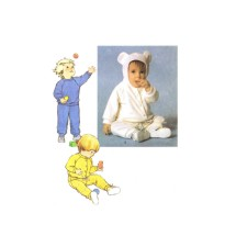 1980s Toddlers Pants Pullover Top Hood or Unhooded Jacket Simplicity 9738 Vintage Sewing Pattern Size 1 - 2 - 3
