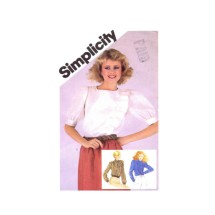 Misses Asymmetrical Blouse Simplicity 5497 Vintage Sewing Pattern Size 10 Bust 32 1/2