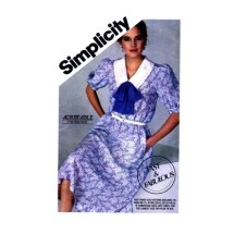 Misses Pullover Pullover Flared Dress Simplicity 5582 Vintage Sewing Pattern Size 10 - 12 - 14