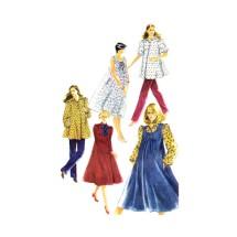 Maternity Pants Dress Top Sundress Jumper Simplicity 5665 Vintage Sewing Pattern Size 8 Bust 31 1/2