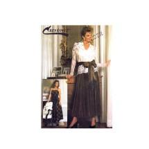 1980s Misses Blouse Camisole Skirt Sash Connoisseur Simplicity 7163 Vintage Sewing Pattern Size 14