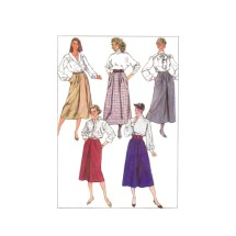 1980s Misses Skirts in Two Lengths Simplicity 7856 Vintage Sewing Pattern Size 14 Waist 28