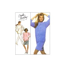 Christie Brinkley Misses Knit Top Pants Skirt Simplicity 8913 Vintage Sewing Pattern Size 22 - 24