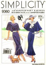 Simplicity 9360 Sewing Pattern 60th Anniversary Town Dress Capelet Size 6 - 12